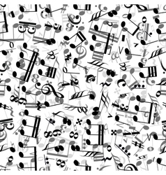 Gray and black music signs on white background vector image