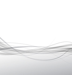 Gray border swoosh wave modern abstract background vector