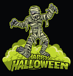 halloween design of mummy vector image vector image