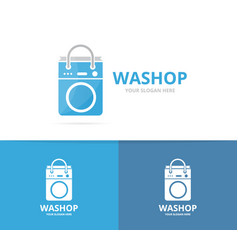 laundry and bag logo combination vector image vector image