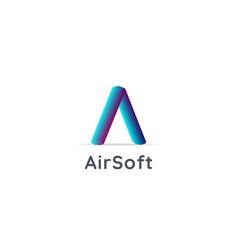 Letter a logo air flow arrow icon design concept vector