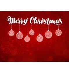 Merry christmas banner xmas decoration vector