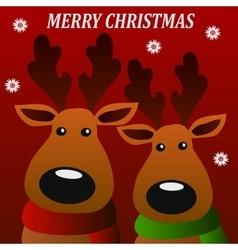 merry christmass deers vector image