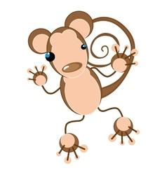 monkey animal cartoon vector image vector image
