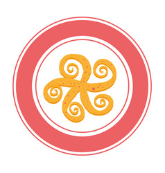 octopus sea food icon vector image