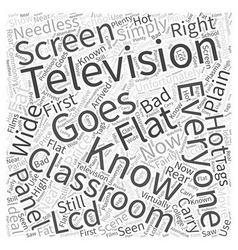 Rear projection plasma word cloud concept vector
