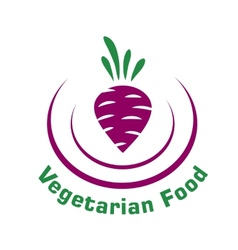 Vegetarian food icon with beetroot vector image vector image