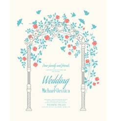 Wedding rose arch vector