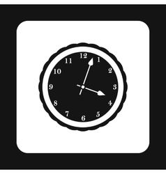 Round mechanical watch icon simple style vector