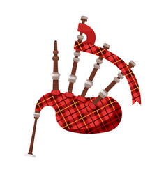 Flat style scottish traditional musical instrument vector