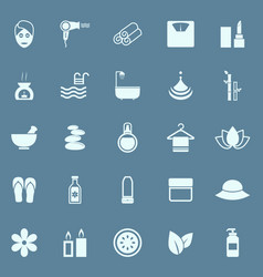 Beauty color icons on blue background vector