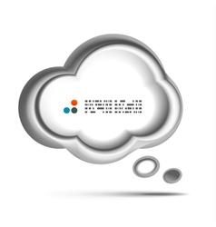 white 3d speech bubble concept vector image