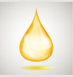 One big yellow drop vector