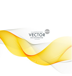 Yellow and gray smooth wave background vector