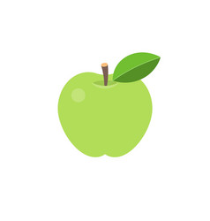 green apple icon vector image