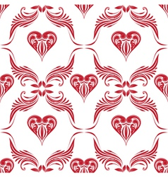 Pattern heart ornamental vector