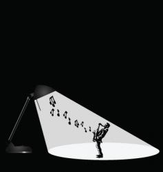 Lamp musician vector