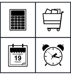 Set of shopping icons  budgeting vector