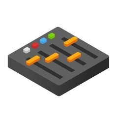 Audio mixer isometric 3d icon vector