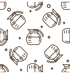 Coffee pot pattern vector