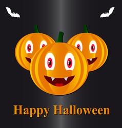Pumpkins in a halloween vector