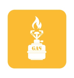 Camping burner icon vector