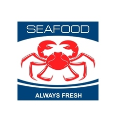 Atlantic snow crab icon for seafood bar design vector image vector image