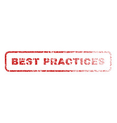 best practices rubber stamp vector image vector image
