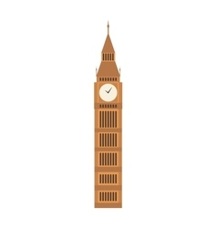 Big ben clock symbol of london vector