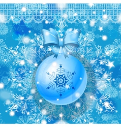 Blue Christmas greeting card vector image