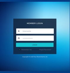 Blue flat ui template design in vector