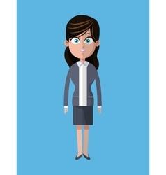 Cartoon woman business gray suit employee vector