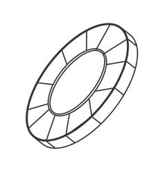 Casino chip icon vector