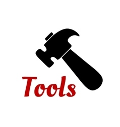Claw hammer hand tool black icon vector image