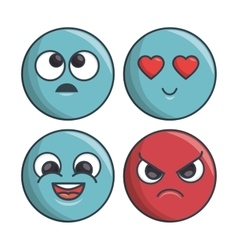 Collection set emoticons differents expression vector