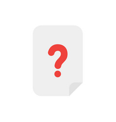 concept of paper with question mark icon on white vector image vector image