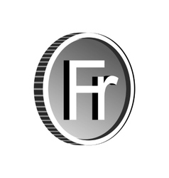 Currency of Switzerland franc icon simple style vector image vector image