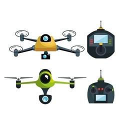 drone technology modern icon vector image