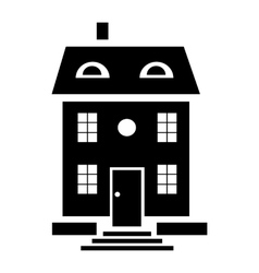 Family house icon simple style vector image