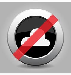 gray chrome button - no cloudy vector image vector image