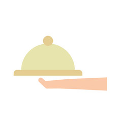 hand human with tray server vector image