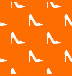 high heel shoe pattern seamless vector image