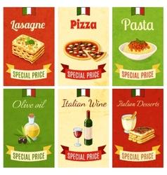 Italian Food Mini Poster vector image