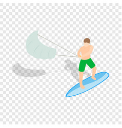 kitesurfing isometric icon vector image vector image