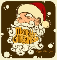 Merry Christmas Santa Claus 2017 vector image
