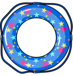 Multicolored swimming circle for relaxing vector