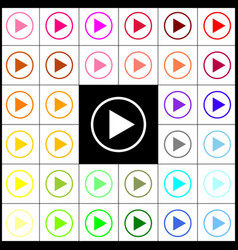 Play sign felt-pen 33 vector
