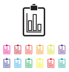 sales report graph chart colourful set vector image