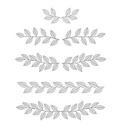 set of branches dividers vector image vector image