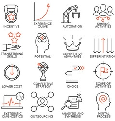 Set of icons related to business management - 4 vector image vector image